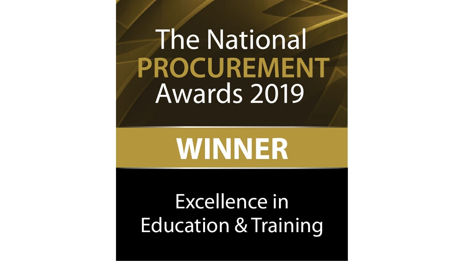 MSc in Procurement Excellence in Education award