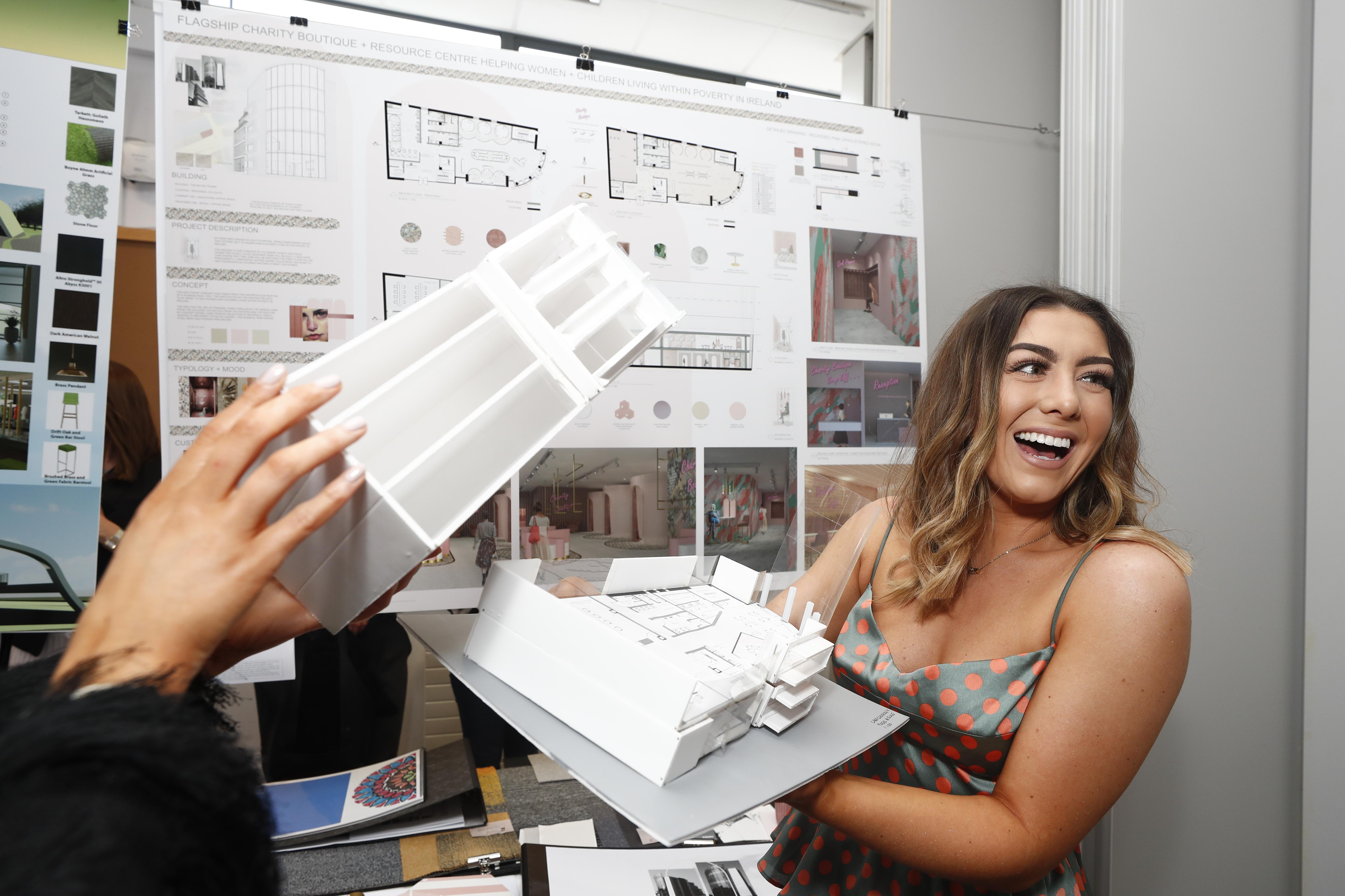Interior Architecture student displays her work at our annual Creative Show