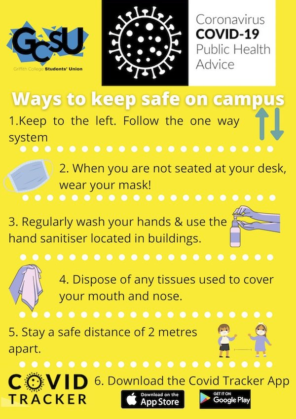 Keep safe on campus poster