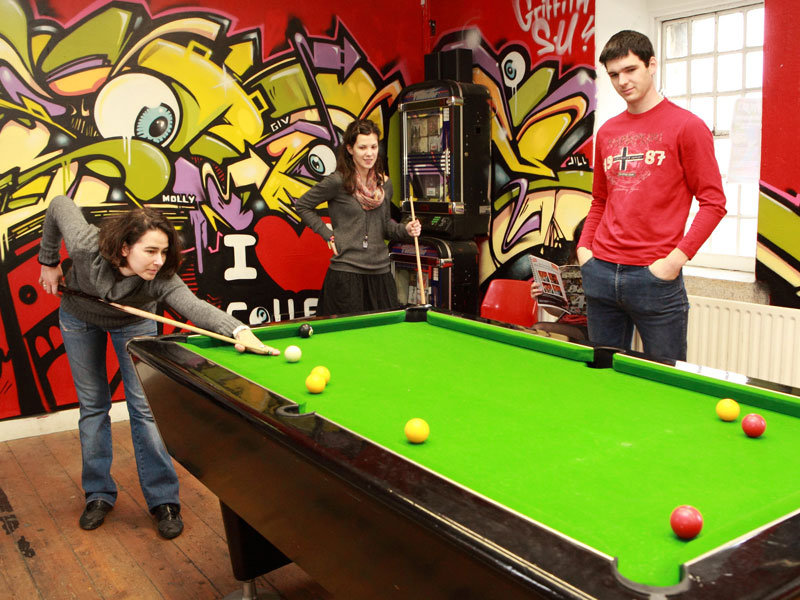 Griffith College Students relax in the students union