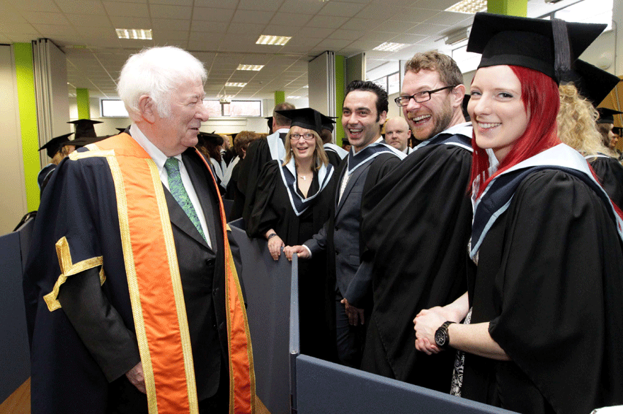 Seamus Heaney Greets Students Griffith College Campus