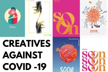 Collage of Creatives Against COVID-19 art