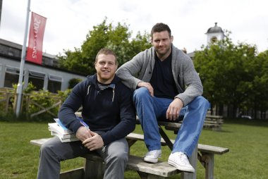 Griffith College students Sean Cronin (left) and Fergus McFadden