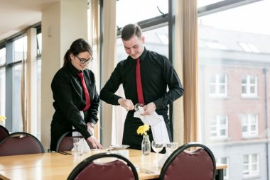 Hospitality students at Griffith College