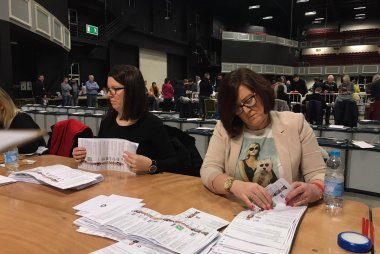 General Election Count 2020. Image credit Betia Rodrigues