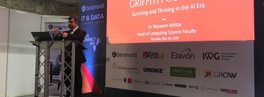 The theme of Dr Akhtar's talk at the IT & Data Summit was Artificial Intelligence
