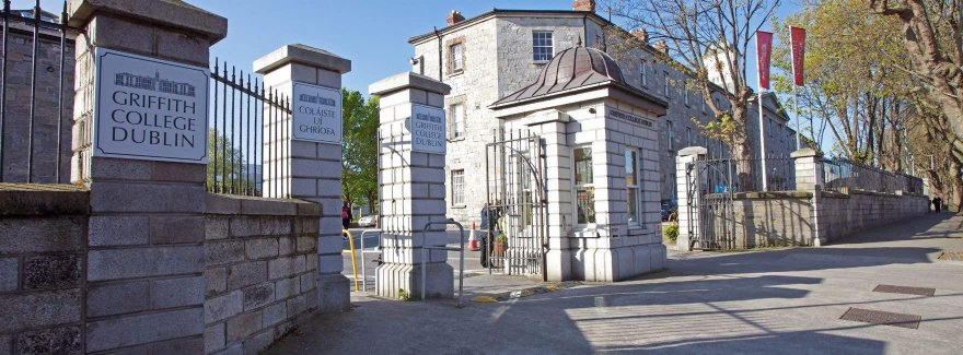 The entry to Griffith College Dublin