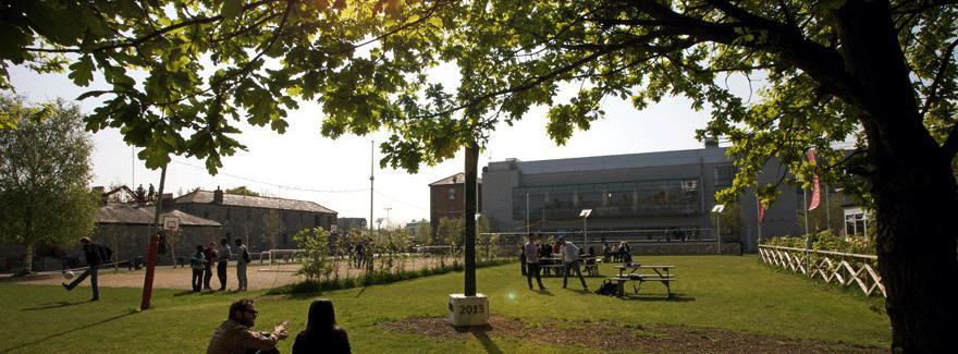 Griffith College exterior on a sunny day