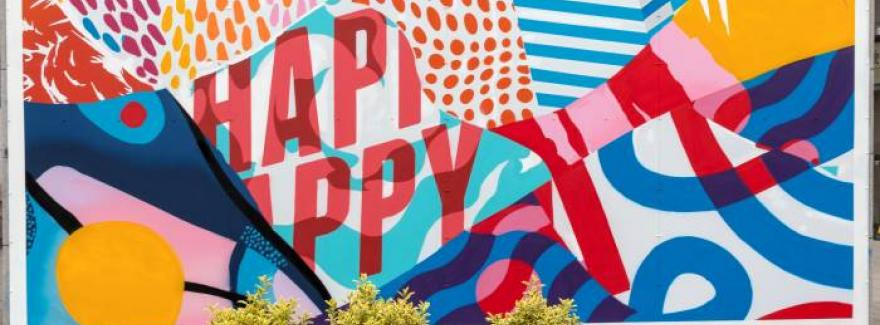 Happy Mural at Griffith College