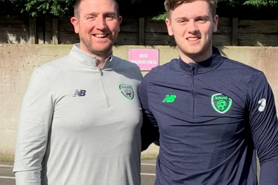 Griffith College Students' Union's Paul Walsh with Conor Keeley