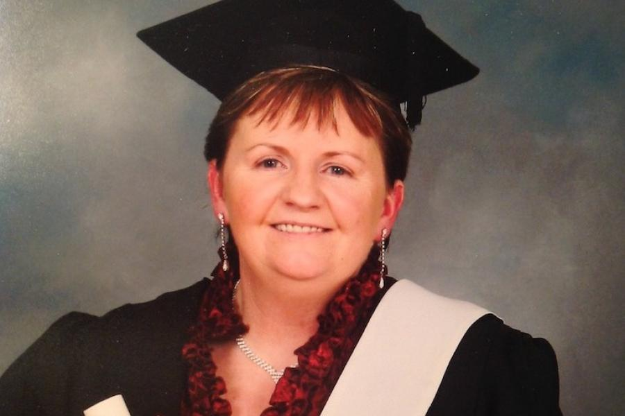 Legal executive Kathleen McGeeney on her graduation from Griffith College