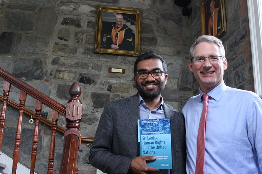 Law Lecturer at Griffith College accompanied by Director, Ronan Fenlon