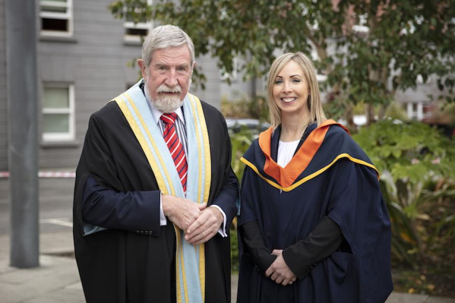 Helen Dixon with Professor Diarmuid Hegarty