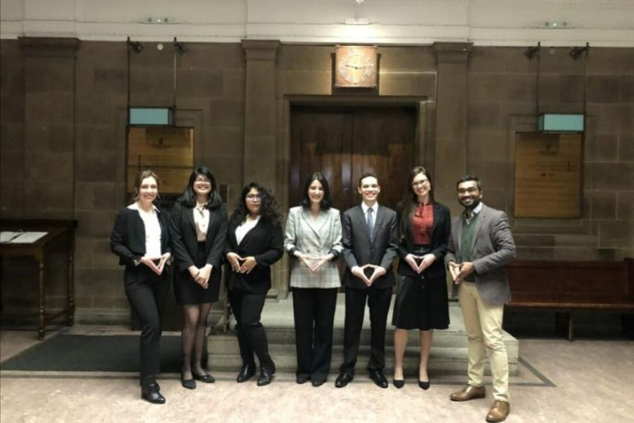Griffith students and lecturers at the Jessup Competition