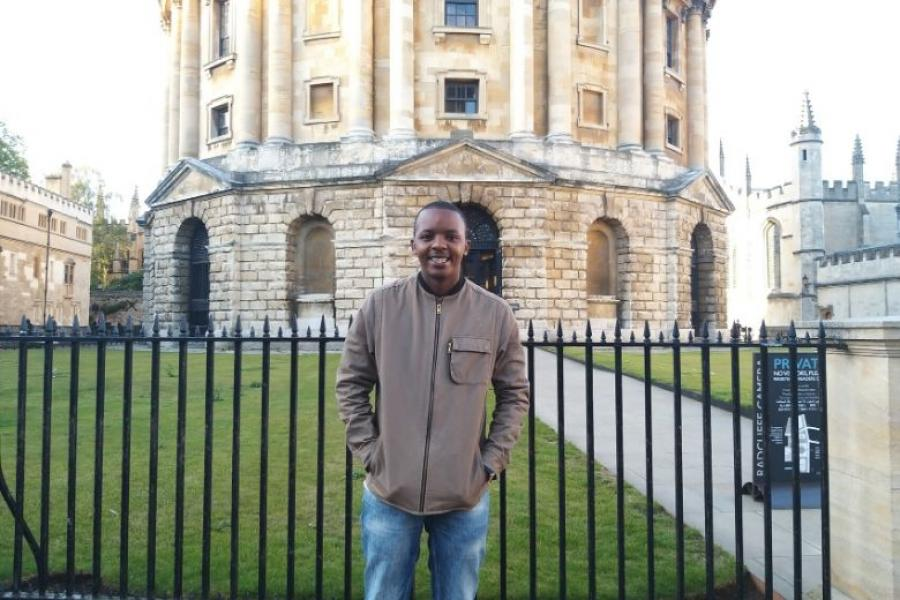 Griffith alum Innocent Mbaguta at Oxford
