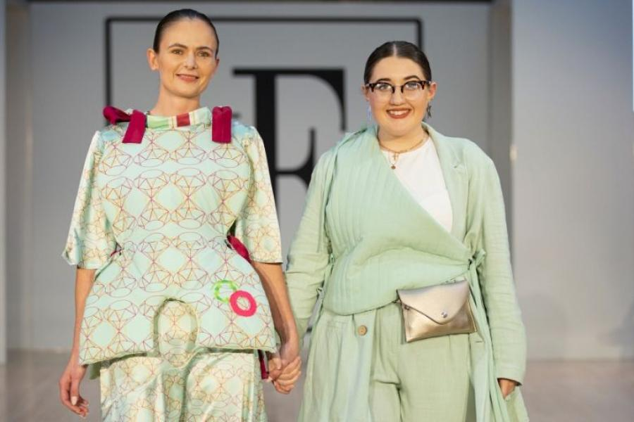 Griffith design alumna Naoise Jo at London Fashion Week