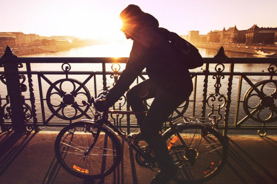 Photo of person cycling