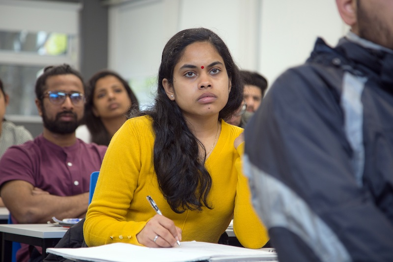 An Innopharma Education student in class at Griffith College
