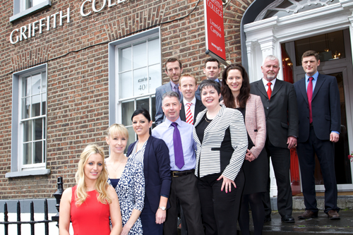 Griffith College Limerick Staff in front of Building