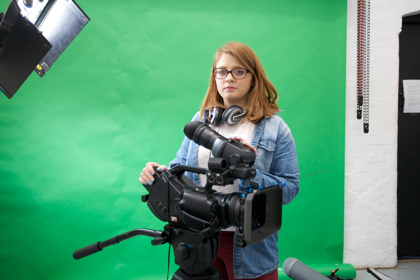 Student Filming in digital media faculty griffith College