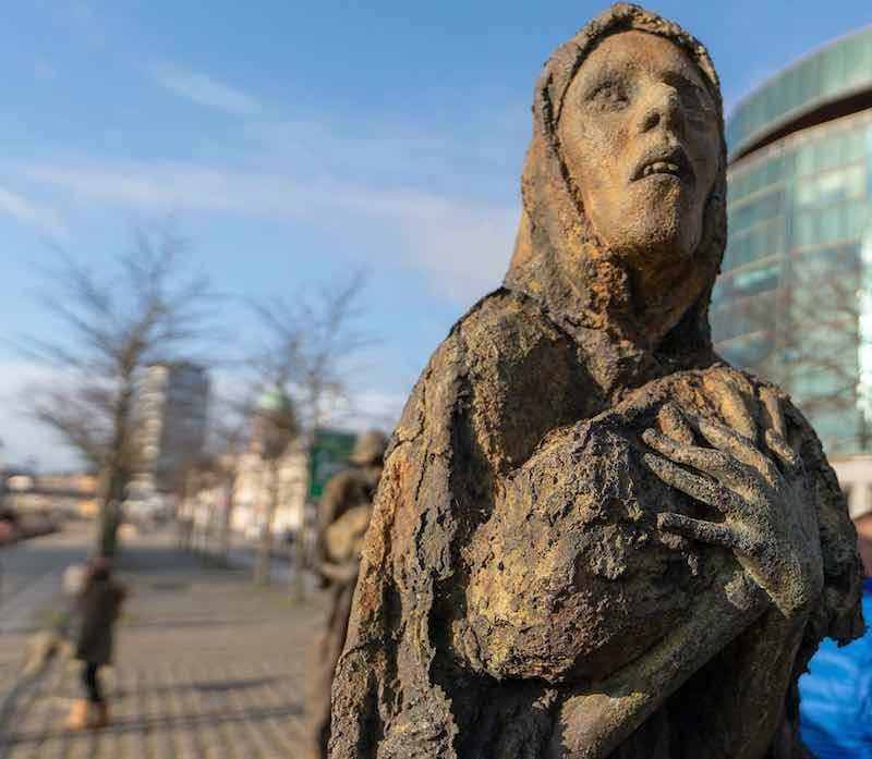 Famine Memorial, Custom House Quay, Ireland