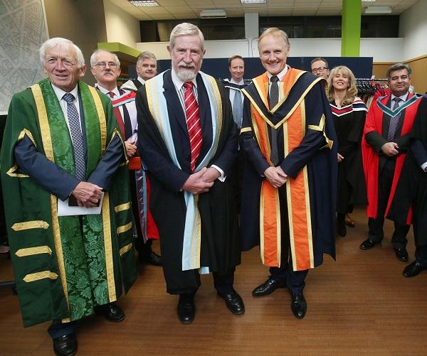 Joe Schmidt with Professor Diarmuid Hegarty