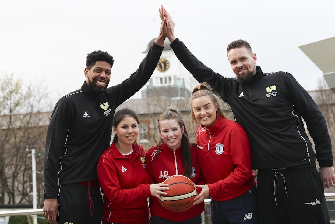 Griffith College and Templeogue basketball players