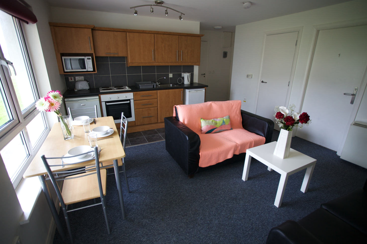 Living room accommodation at Griffith College Limerick