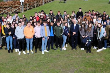 Leaving Cert students at Griffith College Dublin's Free Maths Workshop