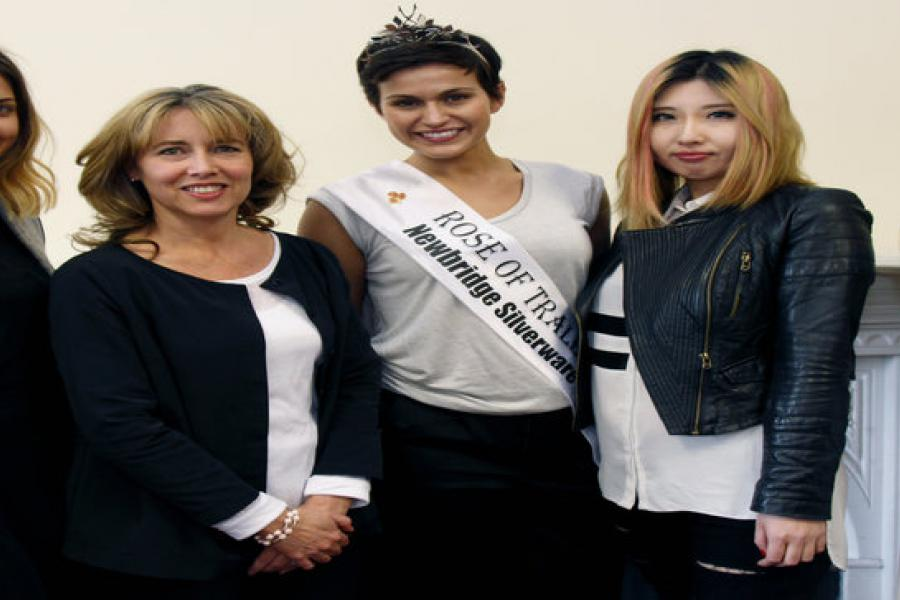 Rose of Tralee with Students and Faculty