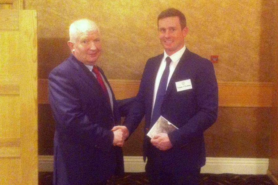 Griffith College Shane O Groman received prize from the Irish Maritime Law Association