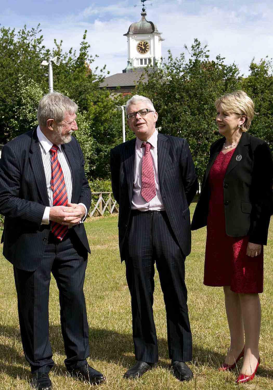 Prof. Diarmuid Hegarty, Dean David Langwallner and Mary McAleese
