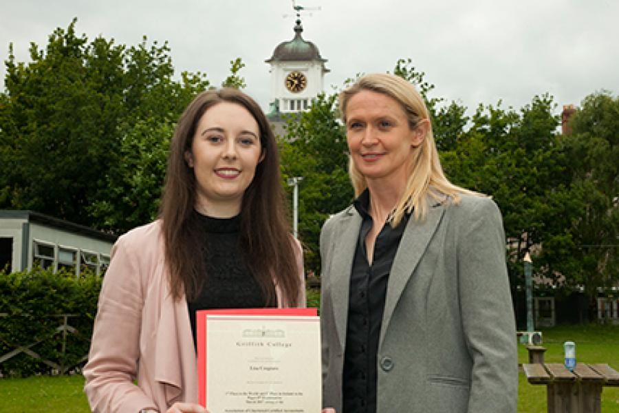 Griffith College graduate places first in the world in her accountancy exams