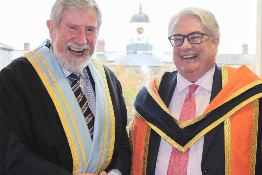 President of Griffith College, Diarmuid Hegarty with Chief Justice Clarke