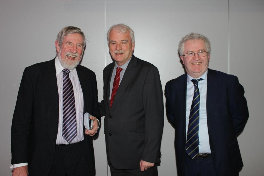 President Diarmuid Hegarty, Attorney General Seamus Woulfe and Finian McGrath TD