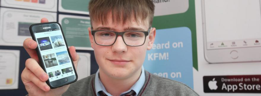 Jack Jordan, Scoil Dara Kilcock, winner of the Griffith College Business Enterprise Competition