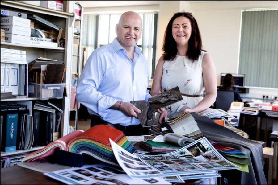Sean Gallagher with Audrey Gaffney of Audrey Gaffney and Associates. Photo: David Conachy/Irish Independent