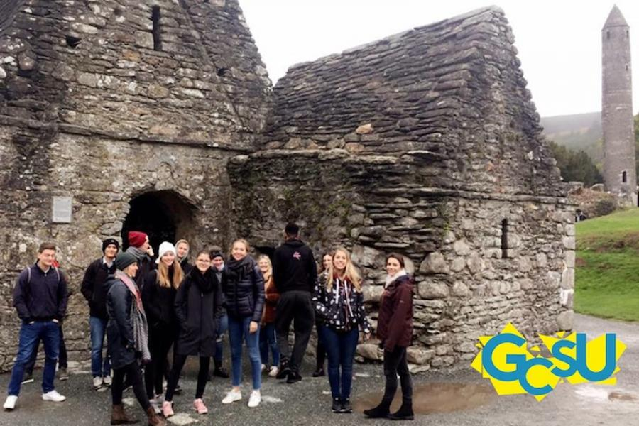 Members of the GCD SU on a trip to Glendalough