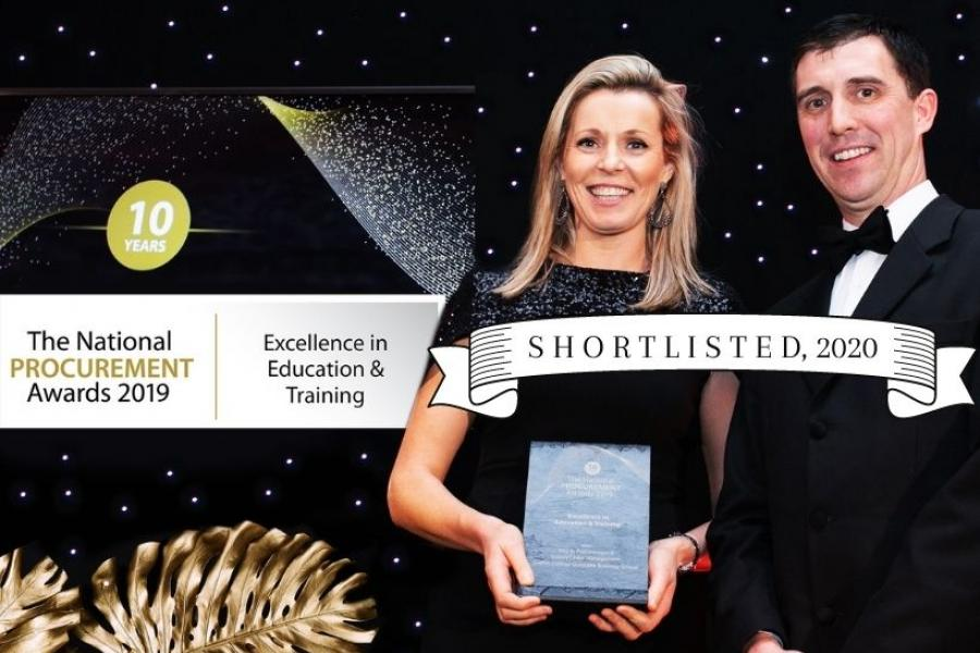 Griffith College at National Procurement Awards of 2019, Shortlisted this year in 2020
