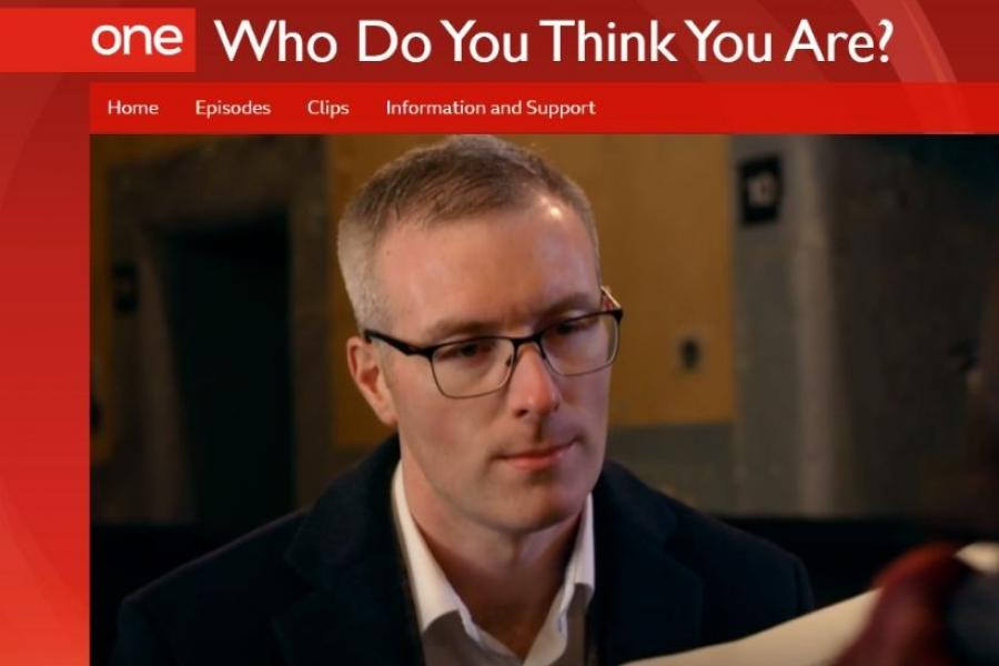 Eamonn Gardiner appears on BBC show, Who Do You Think You Are?