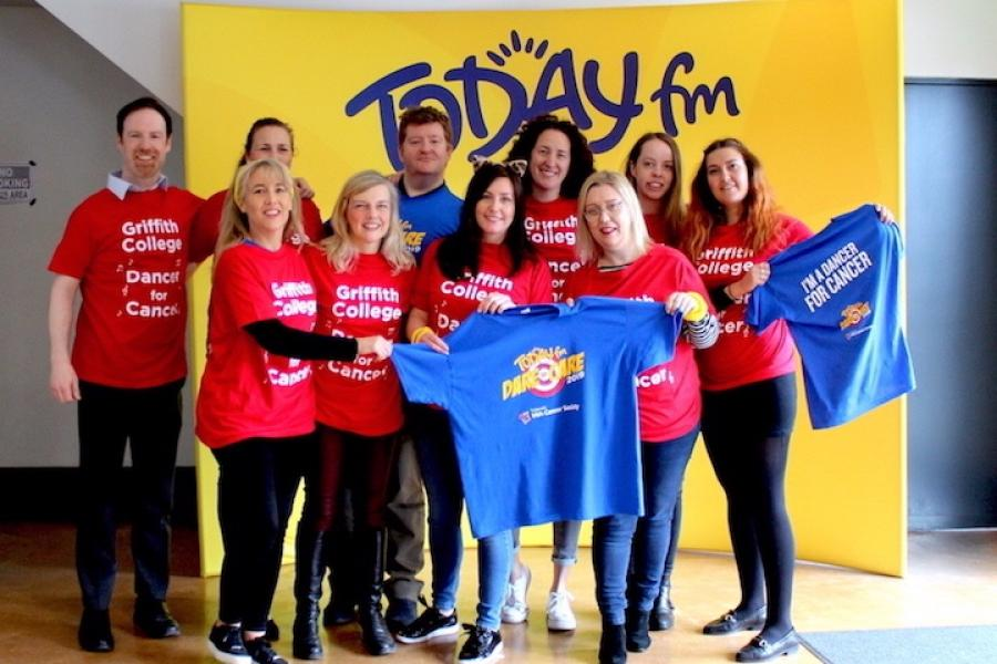 "Griffith College staff attend TodayFM's Dare to Care event, ""Be a Dancer for Cancer"""