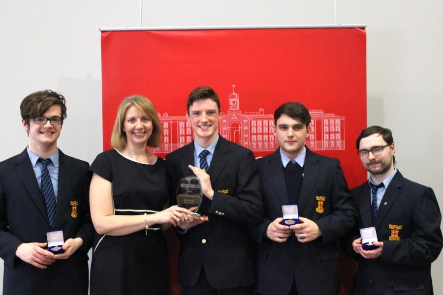 The winning team from the 2019 Griffith College Legal Debating Competition