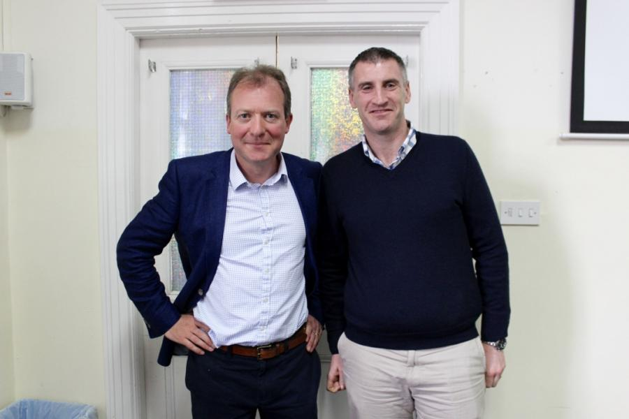 Brian Healy, Director of Traded Markets, Development & Operations at the Irish Stock Exchange and Alan Lynch, Interim Head of Faculty for the Graduate Business School