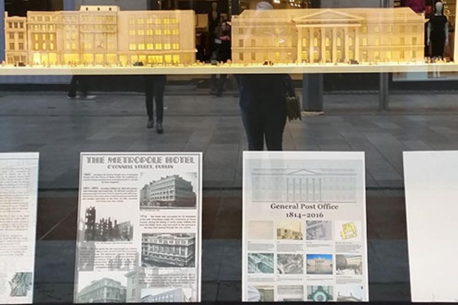 Then/When O'Connell Street Model in Arnotts Windows